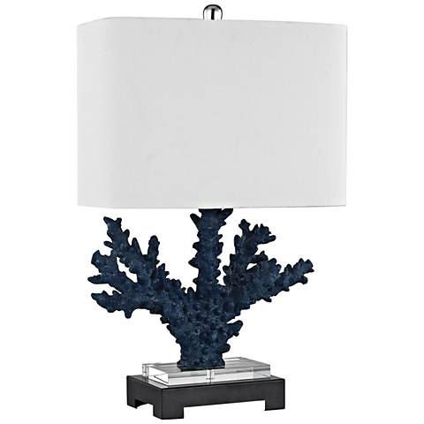 Cape Sable Navy Blue and Black Coral Table Lamp