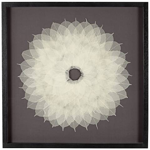 "Paper Flower Burst 31 1/2"" Square Wall Art"