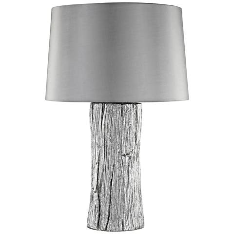Kanamota Silver Outdoor Rated Faux Bois Table Lamp