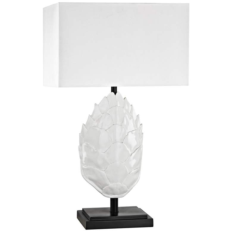 Los Roques Gloss White Outdoor Table Lamp