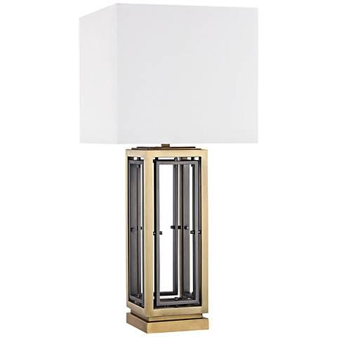 Hancock Park Antique Brass Metal Table Lamp