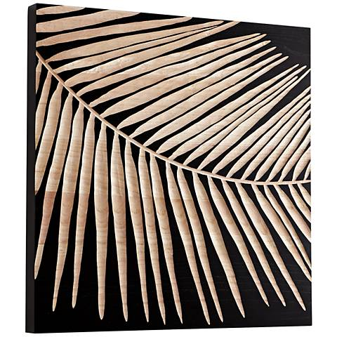 "Cyan Design Destin Black 23 3/4"" Square Wood Wall Art"
