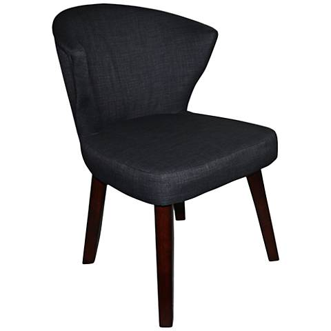 Gilmore Gray Concave Accent Chair