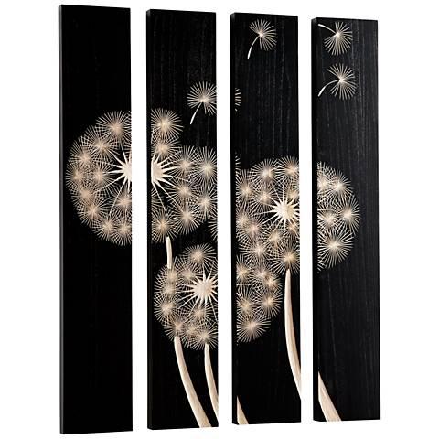 """Cyan Design Float On Black 4-Piece 47 1/4"""" High Wall Art Set"""