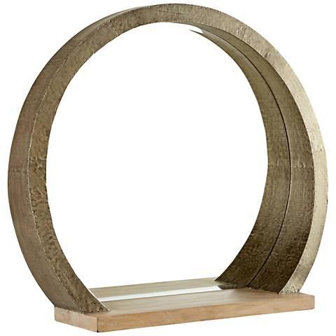 "Rising Radius Silver 38 1/4"" x 34"" Large Wall Mirror"