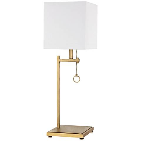 Gower Street Antique Brass Metal Table Lamp