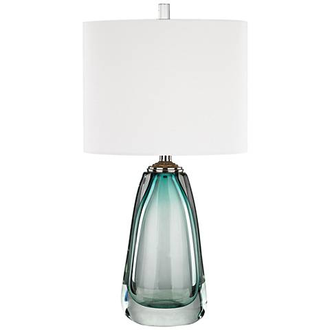Ms. Aqua Blue Glass Table Lamp by Dimond Lighting