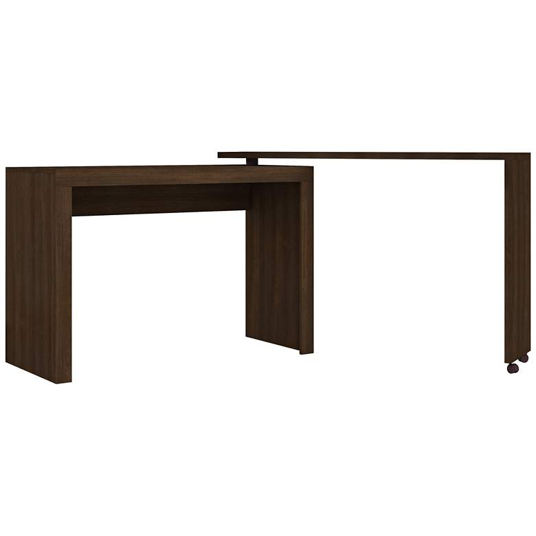 """Accentuations 47 1/4"""" Wide Tobacco Modern Nested Office"""