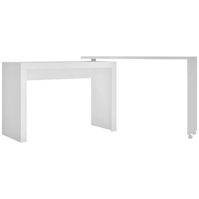 """Accentuations 47 1/4"""" Wide White Modern Nested Office Desk"""