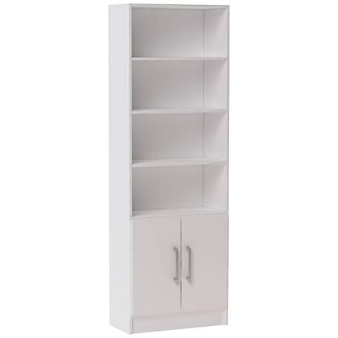 Accentuations Catarina White 6-Shelf Cabinet