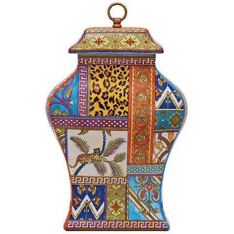 """Port 68 Gypsy Multi-Color 20"""" High Porcelain Jar"""