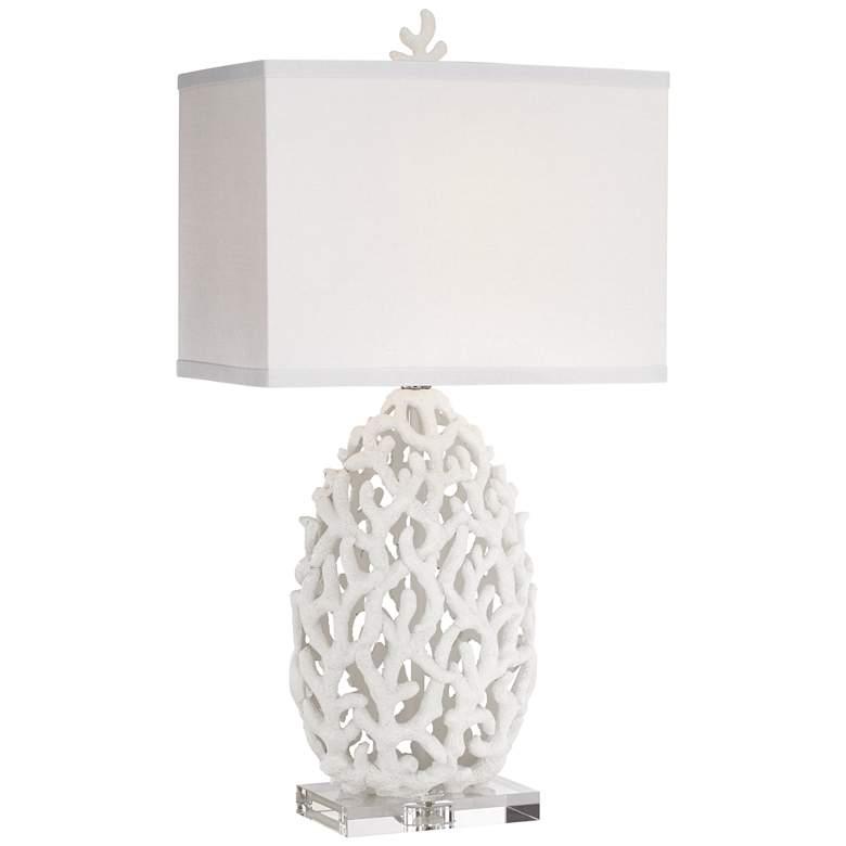 Kathy Ireland Ocean Treasures Coral White Table Lamp