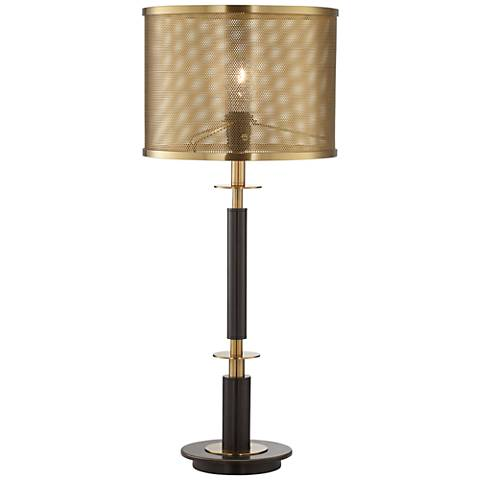 Volt Gray Bronze and Antique Brass Table Lamp