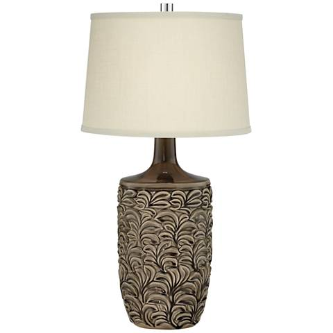 Cyrus Hand-Painted Gray Ceramic Table Lamp