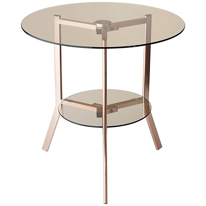 """Gibson 19 3/4"""" Wide Tinted Glass Tripod End Table"""