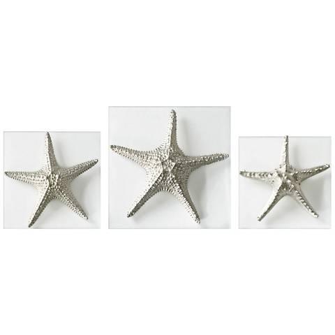 Uttermost Starfish 3-Piece Metallic Silver Wall Art Set