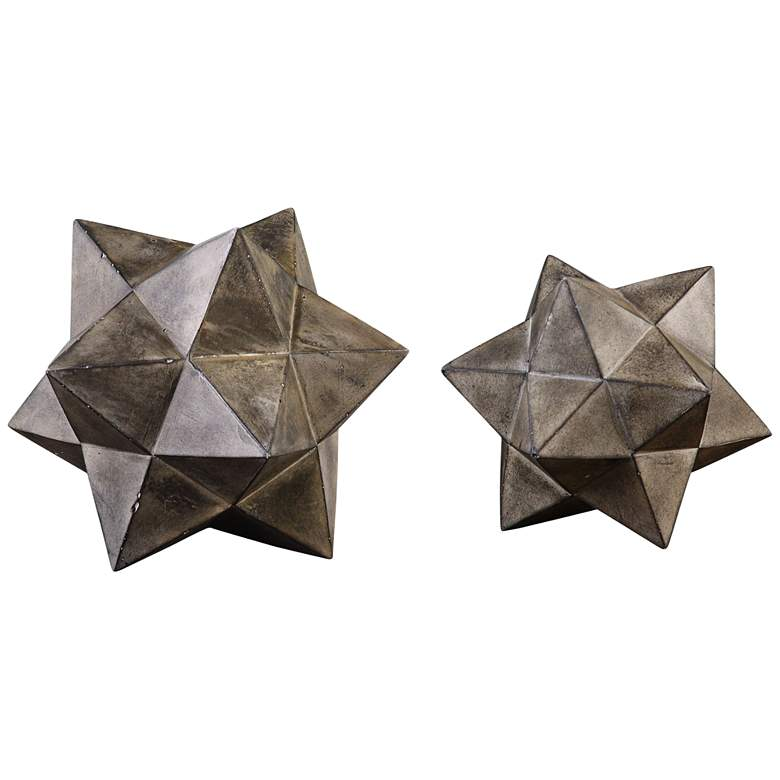 Eros Concrete Geometric Stars by Uttermost - Set of 2