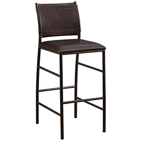 "American Heritage Colton 30"" Bourbon Bonded Leather Barstool"