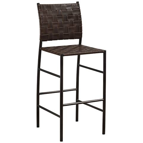 "Sarasota 30"" Bourbon Bonded Leather Barstool"
