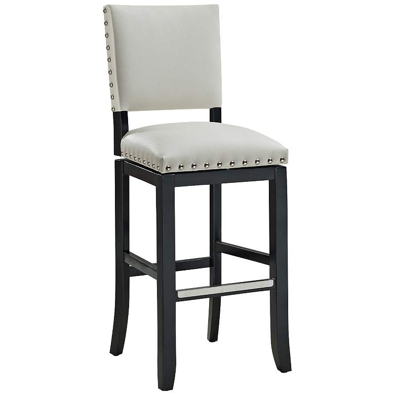 "Jaxon 26"" White Bonded Leather Swivel Counter Stool"