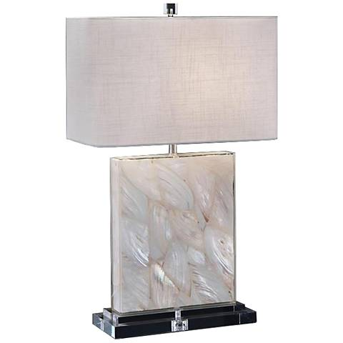 John Richard Mother of Pearl Encased Acrylic Table Lamp