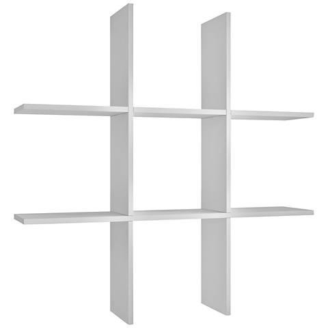 Decorative Taranaki White Tic-Tac Shelf