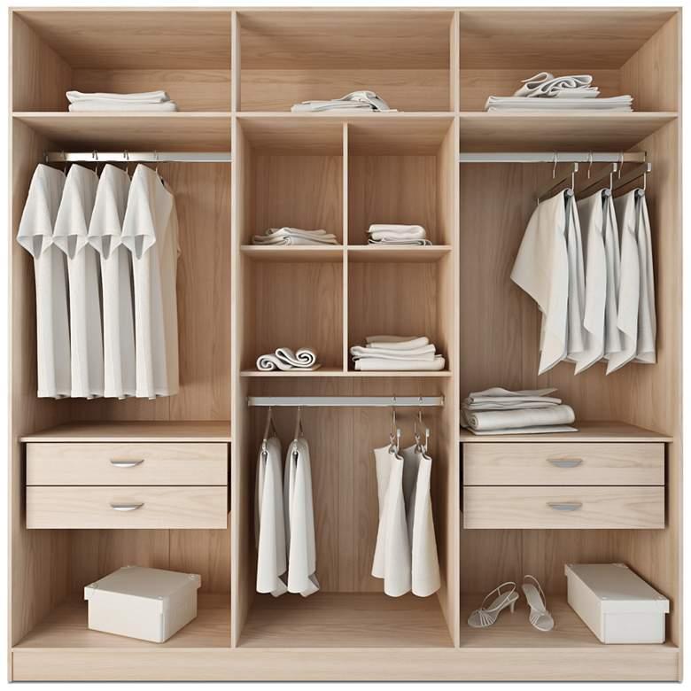 """Eldridge 90 1/2"""" Wide Freestanding Oak Armoire Wardrobe"""