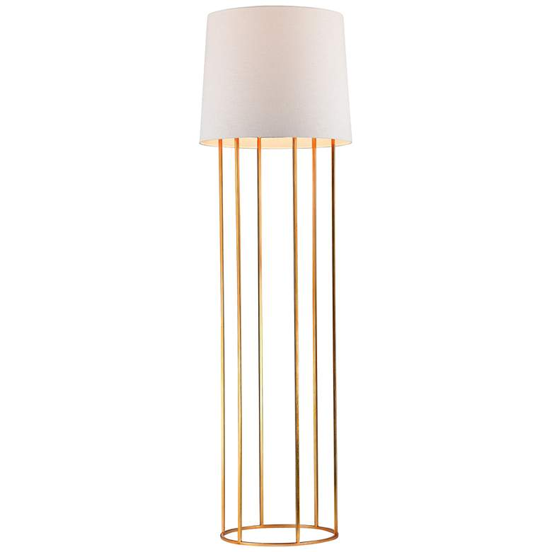 Ari Barrel Frame Gold Leaf Floor Lamp
