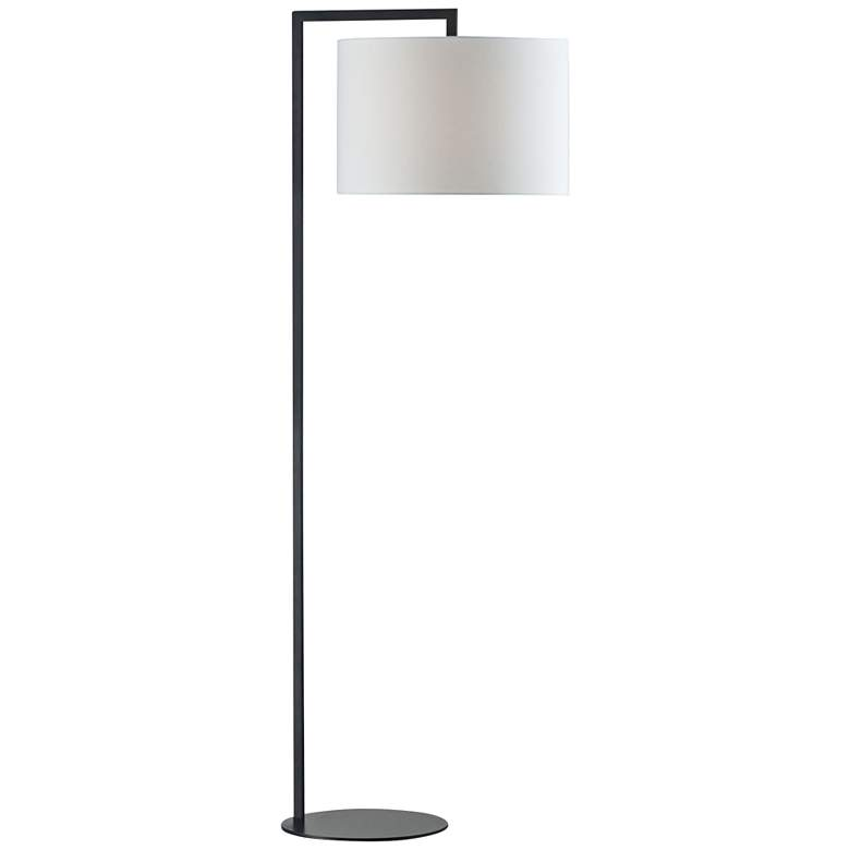 "Obi 59"" High Bronze Stem Modern Floor Lamp"