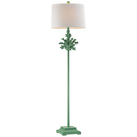 Dimond Sea Coral Spearmint Green Floor Lamp