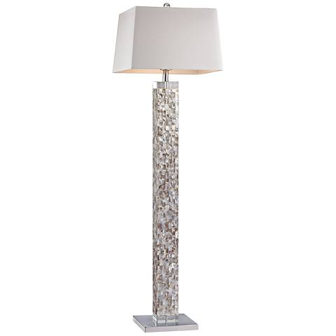 "Dimond 63"" High Castie Mother of Pearl Floor Lamp"