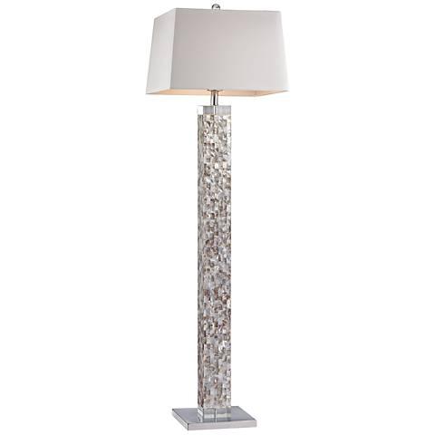 Dimond Castie Mother of Pearl Satin Nickel Floor Lamp