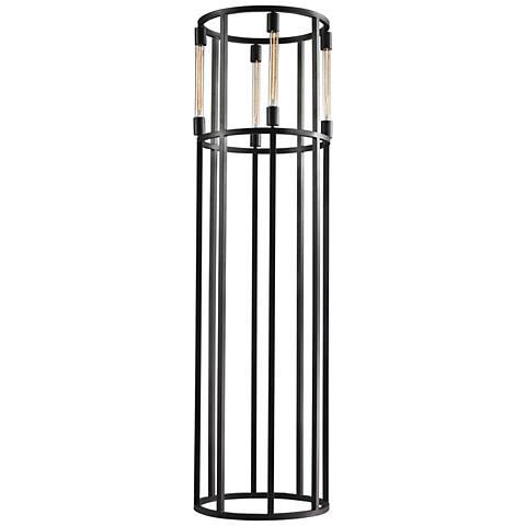 Dimond Onya Cylinder Tube Black Metal Contemporary Floor Lamp