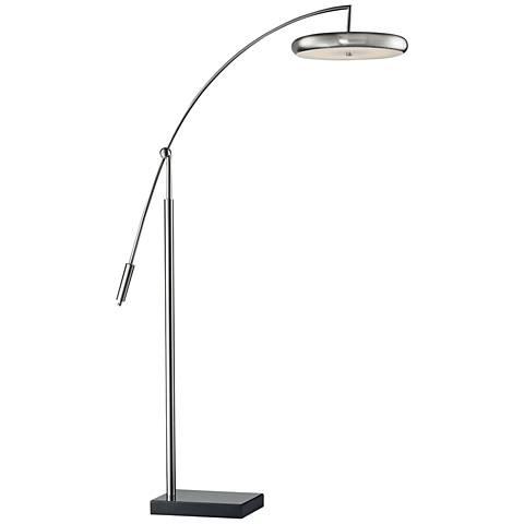 Dimond Arniel Arc Brushed Steel Metal LED Floor Lamp