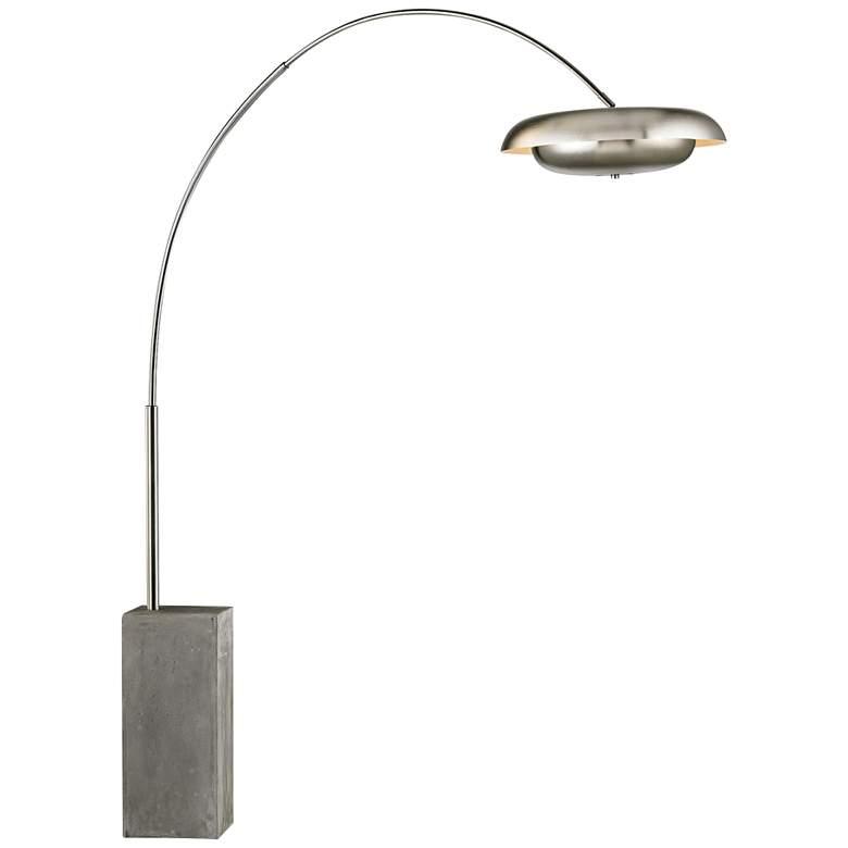 Berne Satin Nickel Modern Floor Lamp by Elk Lighting