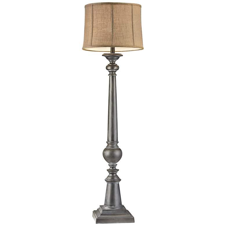 Mycroft Black Ash Column Floor Lamp