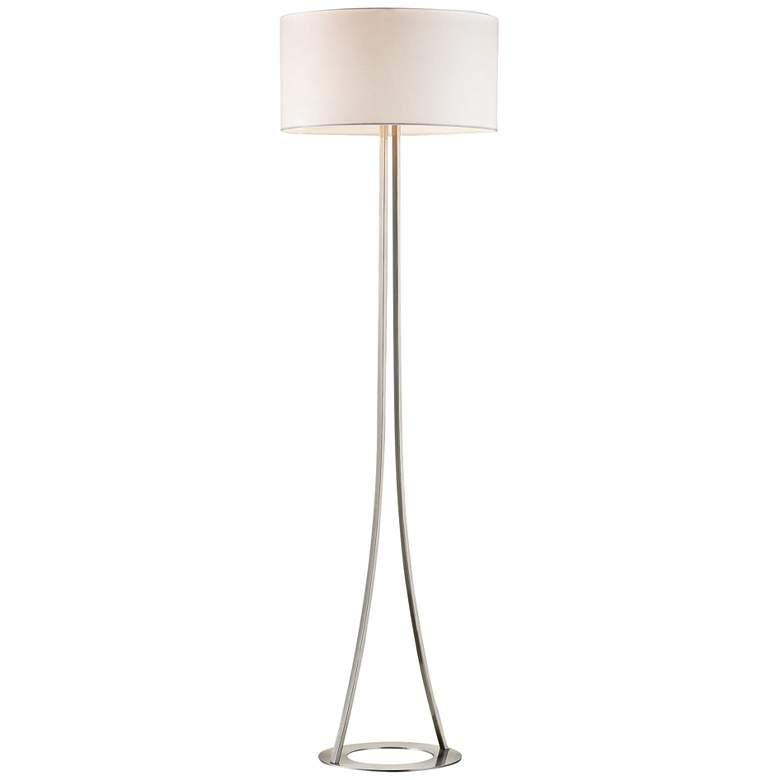 Alder Satin Nickel Metal Floor Lamp