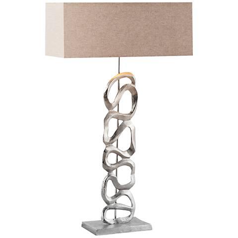 Essence Nickel Metal Table Lamp