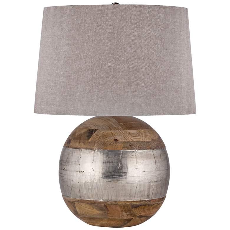 Lauren Mango Wood and German Silver Table Lamp