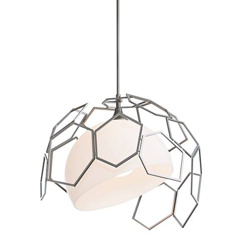 "Umbra 20""W Burnished Steel Indoor/Outdoor Pendant Light"
