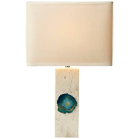 Yucatan White and Blue Agate Table Lamp