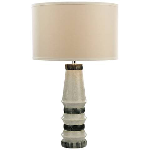 Xumi White and Gray Marble Table Lamp
