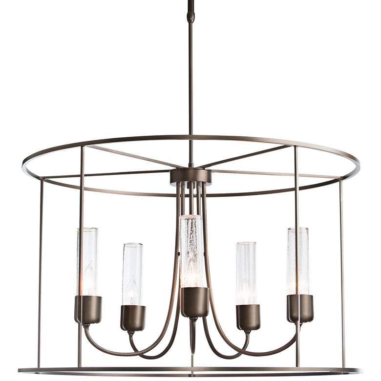"Portico Drum 32"" Wide Bronze Indoor/Outdoor Pendant Light"