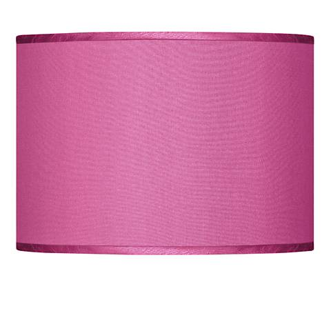 Pink Orchid Faux Silk Lamp Shade 13.5x13.5x10 (Spider)