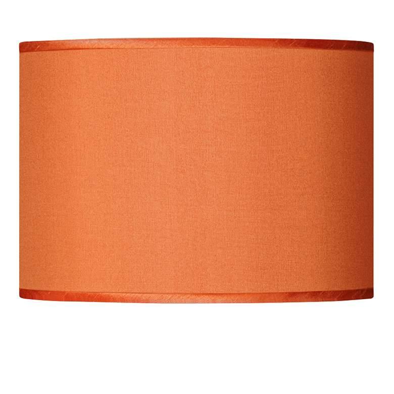 Orange Faux Silk Lamp Shade 13.5x13.5x10 (Spider)
