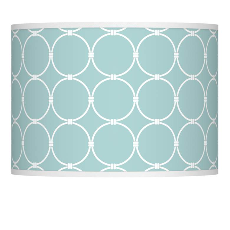 Aqua Interlace Giclee Glow Drum Shade 13.5x13.5x10 (Spider)