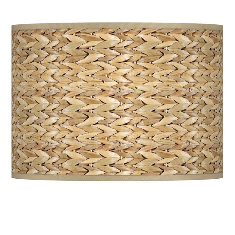 Seagrass Print Pattern Lamp Shade 13.5x13.5x10 (Spider)
