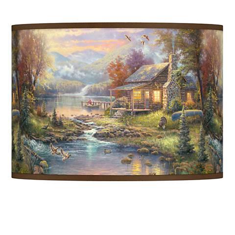Thomas Kinkade Nature's Paradise Shade 13.5x13.5x10