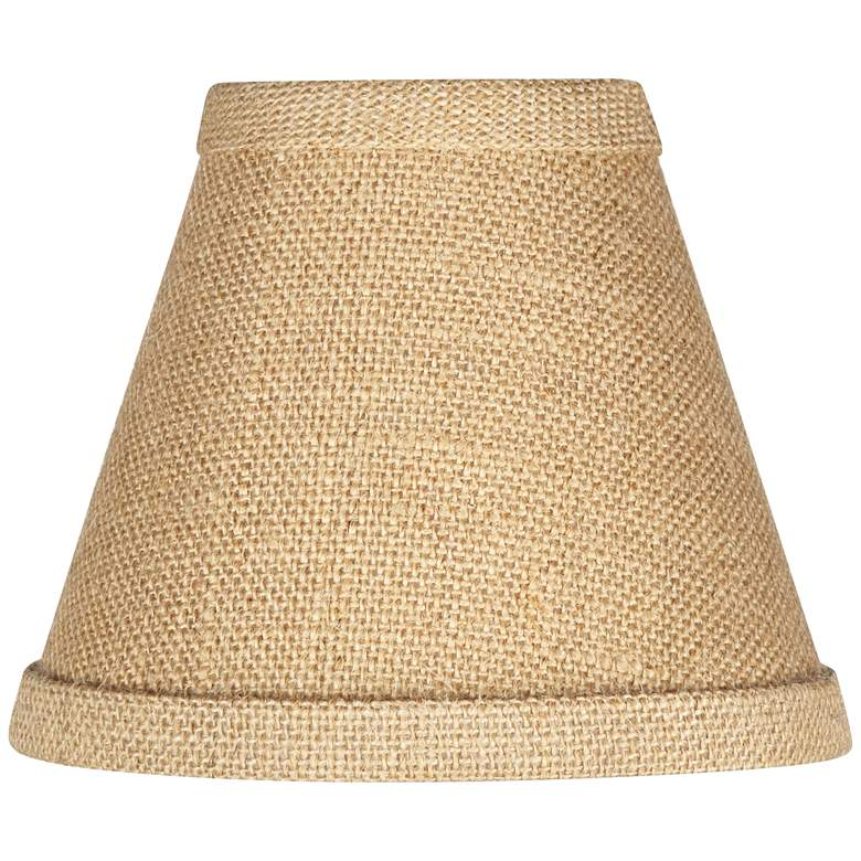 Woven Burlap Set of Four Shades 3x6x4 3/4 (Clip-On)