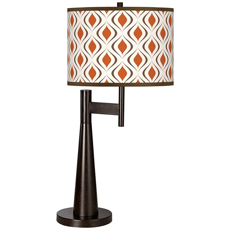 Retro Lattice Giclee Novo Table Lamp